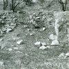 Přemilovice - stará tvrz | pozůstatky obytné věže staré tvrze v roce 1985