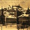 Jáchymov - kaple sv. Anny | kaple sv. Anny na historické pohlednici před rokem 1945