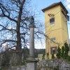 Nové Hamry - sloup se sochou Panny Marie (Immaculata) | sloup se sochou Panny Marie v Nových Hamrech - duben 2010