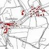 Svatobor (Zwetbau) | katastrální mapa obce z doby před rokem 1955