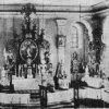 Horní Blatná - kostel sv. Vavřince | interiér kostela sv. Vavřince v době před rokem 1945
