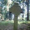 Boží Dar - kamenný kříž   přední strana kamenného kříže - říjen 2013