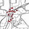 Hora (Horn) | katastrální mapa vsi Hora (Horn) z roku 1945