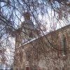 Kobylé - kostel Povýšení sv. Kříže | jižní průčelí kostela - prosinec 2012