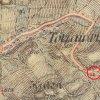 Tocov - kaple Nejsvětější Trojice   kaple Nejsvětější Trojice u Tocova na mapě 3. františko-josefského vojenského mapování z roku 1878