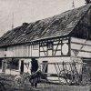 Dlouhá (Langgrün) | hrázděný Pfeifferhäusel čp.31 Richarda Stacka v roce 1900