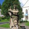 Jáchymov - sloup se sousoším Nejsvětější Trojice | socha sv. Anny s malou Marií - září 2010