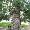Jáchymov - sloup se sousoším Nejsvětější Trojice | socha patrona města sv. Jáchyma - září 2010