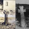 Radnice (Hradiště) - smírčí kříž | smírčí kříž v Radnici počátkem 20. století