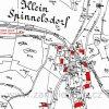 Malá Lesná (Klein Spinnelsdorf) | katastrální mapa Malé Lesné patrně z roku 1945