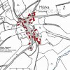 Hůrka (Horkau)   katastrální mapa vsi Hůrka z roku 1945