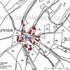 Humnice (Humnitz)    katastrální mapa vsi Humnice z roku 1945