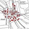 Jeseň (Gässing) | katastrální mapa vsi Jeseň z roku 1945