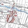Hluboká (Tiefenbach)   katastrální mapa vsi Hluboká z doby před rokem 1955