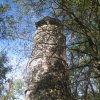 Kyselka - rozhledna Bučina | kamenná rozhledna Bučina - září 2012