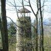 Kyselka - rozhledna Bučina | rozhledna Bučina od východu - duben 2009