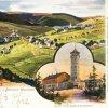 Jáchymov - rozhledna na Klínovci | Klínovec s rozhlednou na pohlednici z počátku 20. století