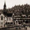 Karlovy Vary - kostel sv. Lukáše | kostel sv. Lukáše na polygrafii z doby kolem roku 1885
