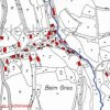 Vrch (Hüttmesgrün)   katastrální mapa osady Vrch patrně z roku 1945