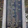 Radošov - pomník obětem 1. světové války | nápisová deska se jmény padlých - listopad 2020