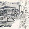 Brložec (Pürles) | litografická pohladnice obce Brložec (Pürles) z roku 1902