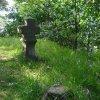 Drahovice (u Slavie) - smírčí kříž a kopie | zbytek původního smírčího kříže a jeho kopie - červen 2009