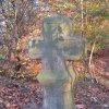Drahovice (u Slavie) - smírčí kříž a kopie | přední strana kříže - říjen 2009