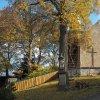 Chlum - kostel sv. Jiljí   hlavní západní průčelí zchátralého kostela sv. Jiljí ve vsi Chlum - říjen 2016