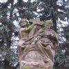 Stráž nad Ohří - sousoší Nejsvětější Trojice   Nejsvětější Trojice - listopad 2009
