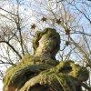 Údrč - socha sv. Jana Nepomuckého | dateil plastiky sv. Jana Nepomuckého - prosinec 2009