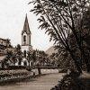 Karlovy Vary - evangelický kostel sv. Petra a Pavla | evangelický kostel na polygrafii z doby před rokem 1892
