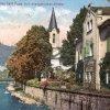 Karlovy Vary - evangelický kostel sv. Petra a Pavla | evangelický kostel na pohlednici z počátku 20. století