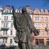 Karlovy Vary - socha sv. Jana Nepomuckého | sv. Jan Nepomucký - březen 2011