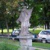 Karlovy Vary - socha sv. Jana Nepomuckého | zadní strana sochy - červenec 2009