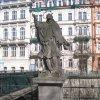 Karlovy Vary - socha sv. Jana Nepomuckého | přední strana sochy - březen 2011