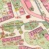 Jáchymov - stará radnice | situace budov staré radnice a Hühnerhängerhausu na císařském otisku stabilního katastru Jáchymova z roku 1842