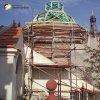 Ostrov - kaple sv. Anny | rekonstrukce zdevastované pohřební kaple sv. Anny v areálu obnovovaného kláštera v Ostrově - říjen 2006