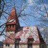 Horní Blatná - evangelický kostel | východní průčelí kostela - duben 2010