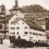 Karlovy Vary - sloup se sousoším Nejsvětější Trojice | morový sloup po demolici staré radnice v době po roce 1875