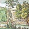 Karlovy Vary - Dorotin altán | Dorotiny nivy s altánem na kolorované mědirytině z roku 1820