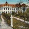 Karlovy Vary - Alžbětiny lázně (Lázně V) | Alžbětiny lázně na kolorované pohlednici z doby po roce 1906