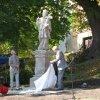 Andělská Hora - socha sv. Jana Nepomuckého   slavnostní odhalení obnovené plastiky dne 13. září 2008