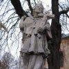 Andělská Hora - socha sv. Jana Nepomuckého   vrcholová figurální plastika - listopad 2009