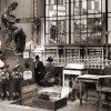 Karlovy Vary - socha Hygie | stáčení pramene Hygieia na historické fotografii z roku 1908