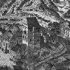 Karlovy Vary - hrad (Zámecká věž) | Zámecká věž na rytině Johanna Schindlera z roku 1652