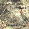 Brložec - železný kříž | železný kříž na rozcestí cest u Brložce na výřezu mapy 2. vojenského františkovo mapování z roku 1845