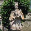 Chyše - socha sv. Jana Nepomuckého   socha sv. Jana Nepomuckého - červen 2012