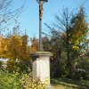 Žlutice - Kaštanový kříž | zchátralý Kaštanový kříž ve Žluticích - říjen 2015