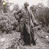 Žlutice - pomník Josefa II.   litinová socha císaře Josefa II. z bývalého pomníku na dvoře žlutické fary na fotografii z roku 1983; zdroj: archiv Muzea Karlovy Vary