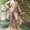Žlutice - pomník Josefa II.   litinová socha císaře Josefa II. - září 2015